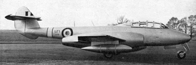 Egypt dualseat Meteor T-7 N1439