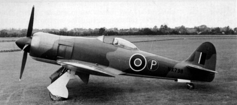 Hawker F2/43 NX798 - прототип всего семейства самолетов