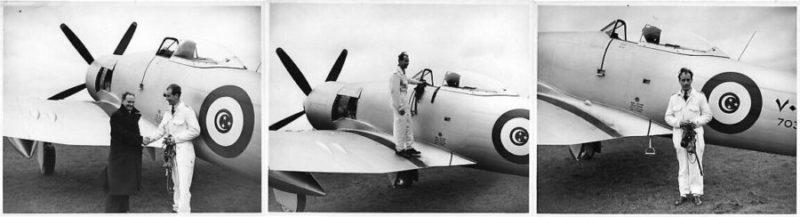 Рекордный перелет из Лондона в Каир на египетском Hawker Fury