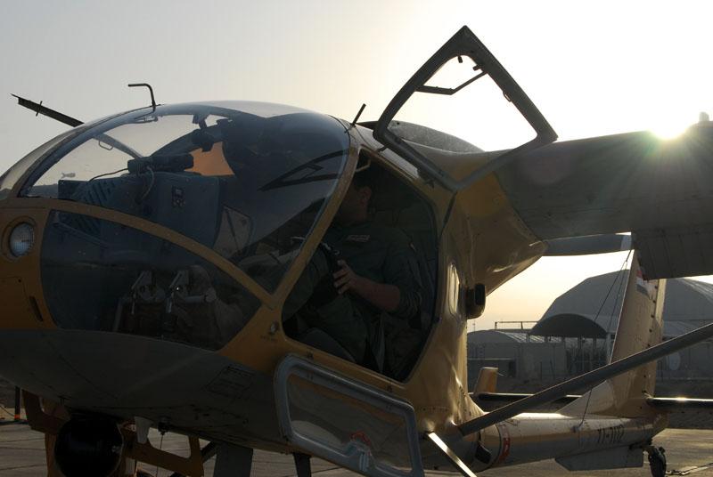 Вид спереди на иракский SB7L-360 Seeker YI-102