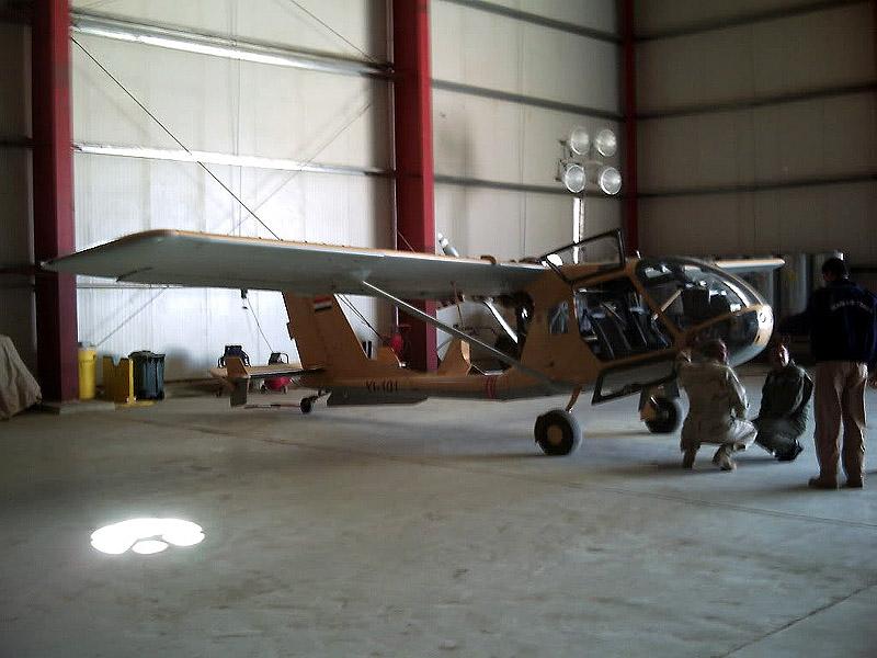 Иракский SBL7-360 Seeker в ангаре. 2009 год