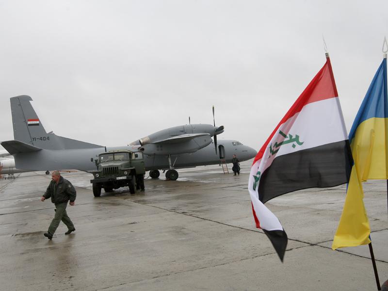 Вторым прибывшим в Ирак стал Ан-32Б YI-404