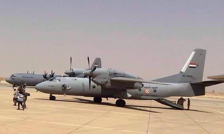 Ан-32Б YI-403 в ходе рутинной работы в Ираке
