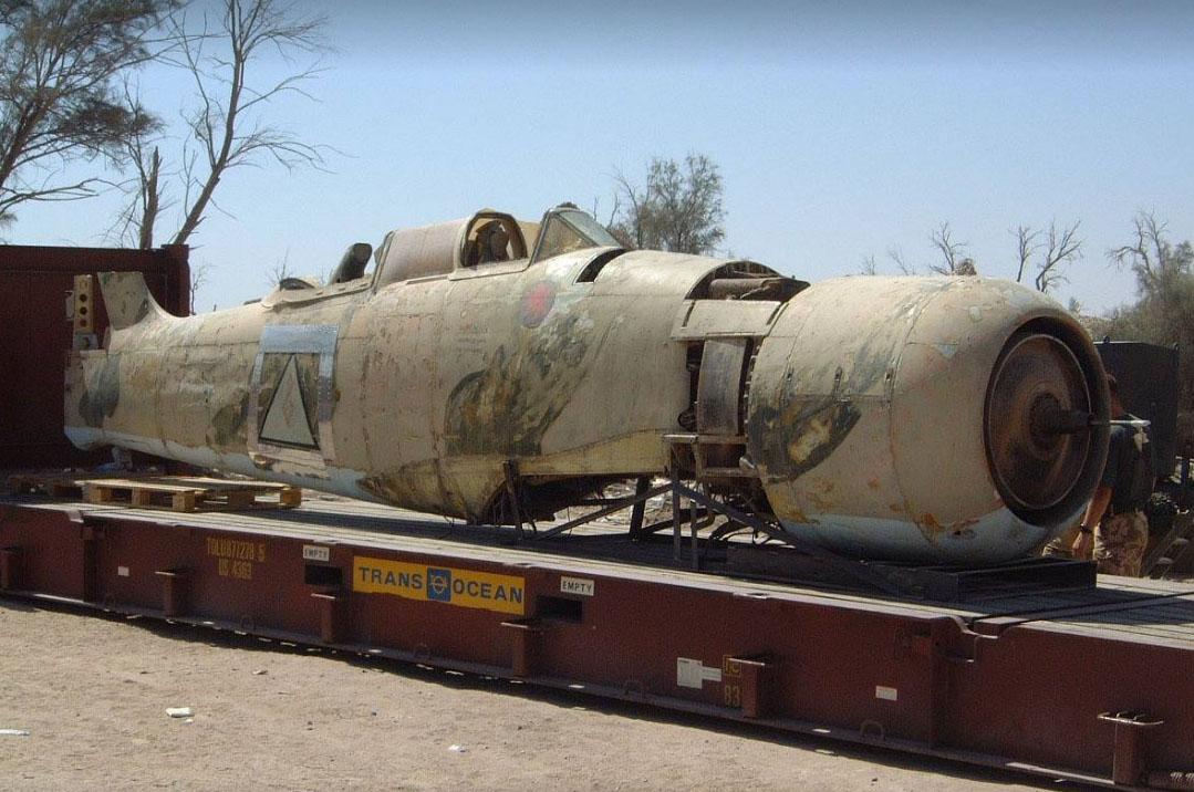 """Иракская """"спарка"""" погружена платформу для перевозки"""