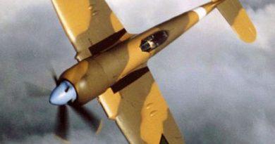 Восстановленный иракский Фьюри N243 в полете