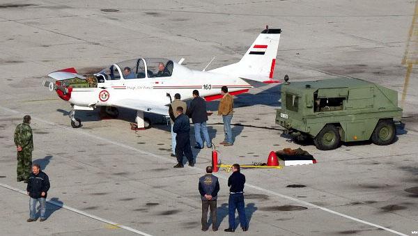 UTVA Lasta-95 YI-160 at serbian airfield