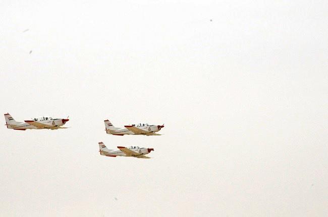 Тройка UTVA Lasta-95N в полете