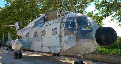Находящийся в музее Супер Фрелон N188 сохранил следы обозначений иракской авиации