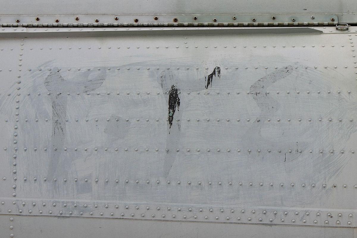Закрашенный иракский номер на хвостовой балке Супер Фрелона