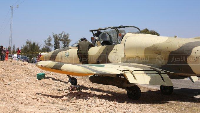 На крыле - опознавательный знак Ливийской Джамахирии