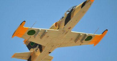 Ливийский Л-39 N9445 в полете на авиасалоне Lavex-2009