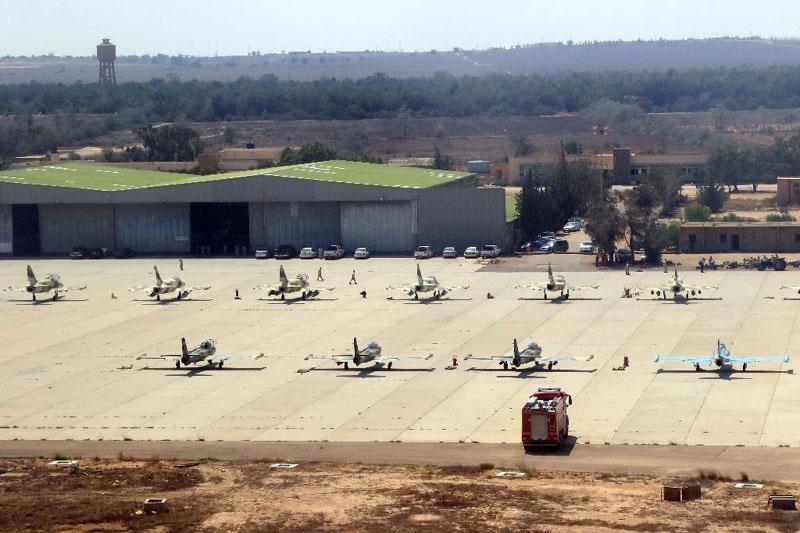Ливийские Галебы и Л-39 в Мисурате