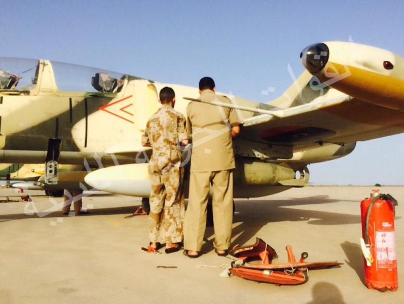 Ливийский Л-39 с парой ОФАБ