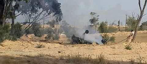 Обломки ливийского Л-39 в 25 км от Мисураты