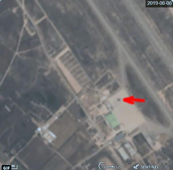 Место поражения Л-39 в Мисурате