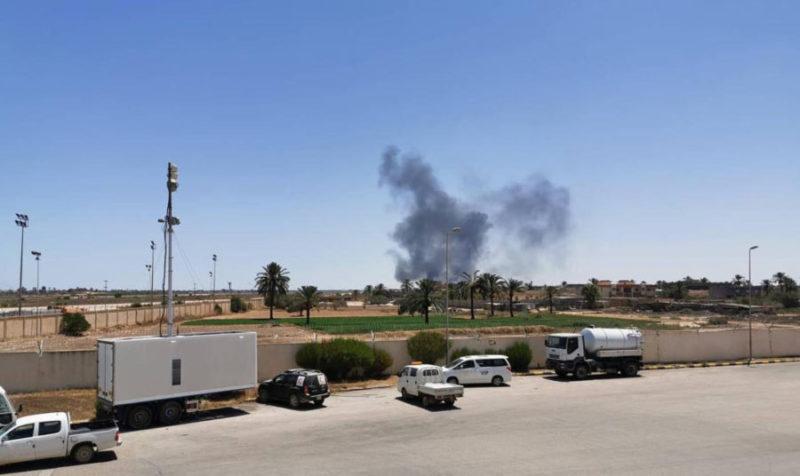 Взрыв на авиабазе Мисурата 7 августа 2019