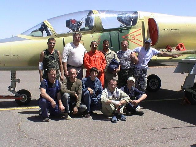 Отремонтированный ливийский борт