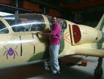 Ливийский Л-39 с изображением паука