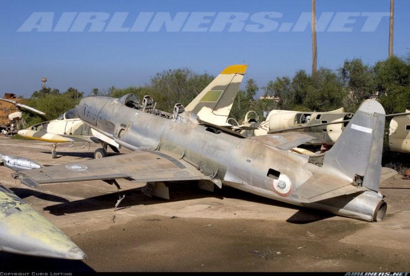 Расстыкованный на части ливийский Л-39