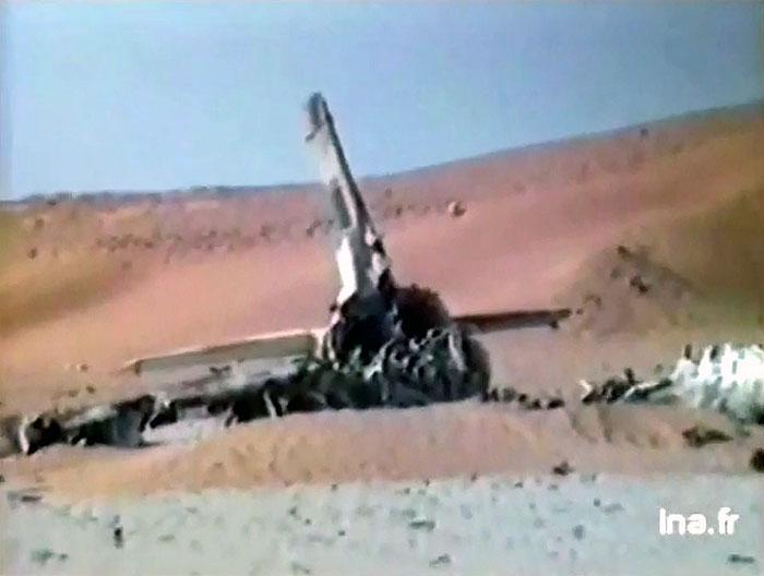 Хвост уничтоженного в Вади-Думе ливийского Л-39