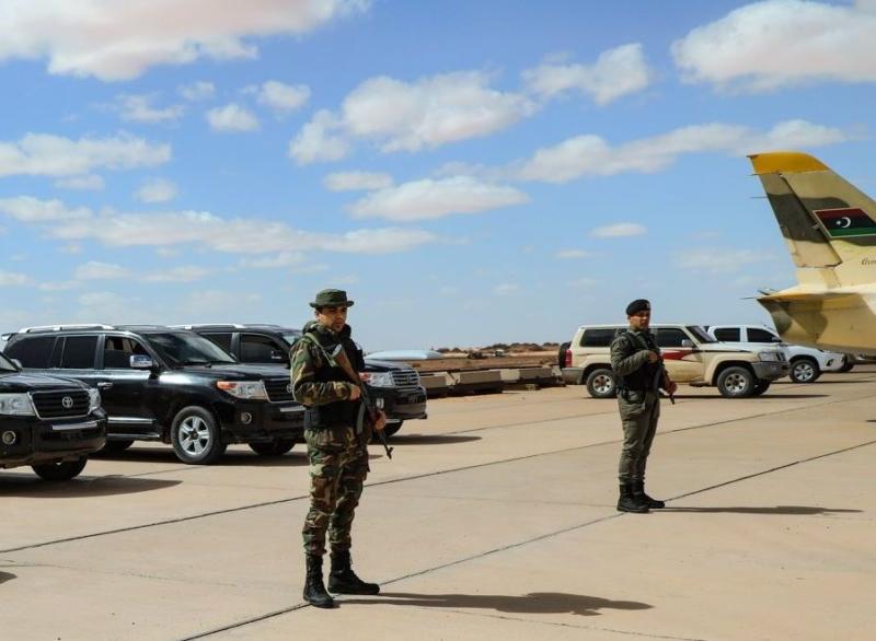 Л-39 Ливийской Национальной Армии во время торжеств 13 февраля 2019