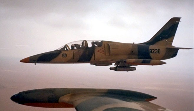 Libyan Aero L-39 N8230 in flight
