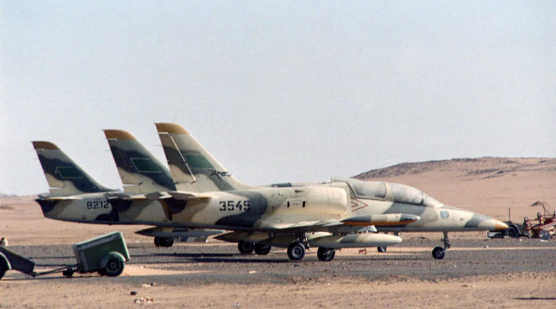 Libyan L-39 at Wadi Doum