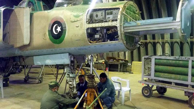 Разобранная носовая часть ливийского МиГ-23УБ N8133