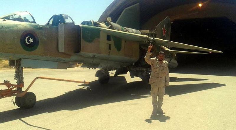 Результат операции - ливийская кокарда и красная звезда одновременно