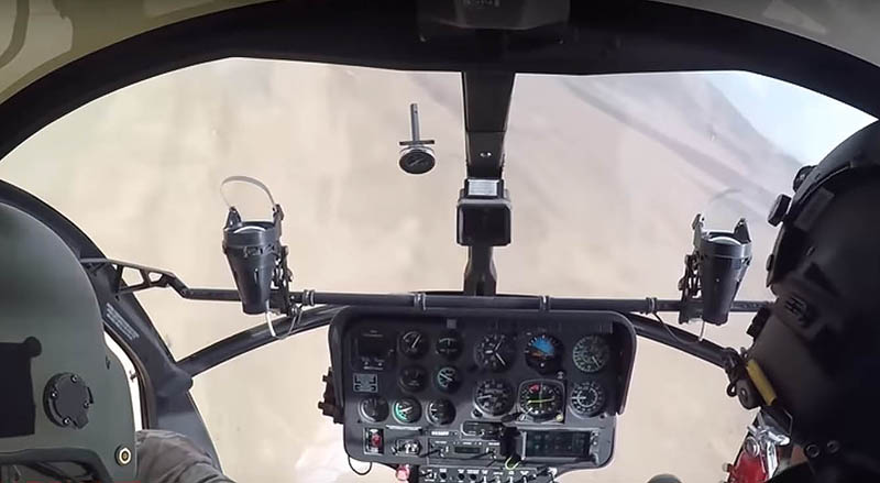 Вид на кабину афганского MD-530F