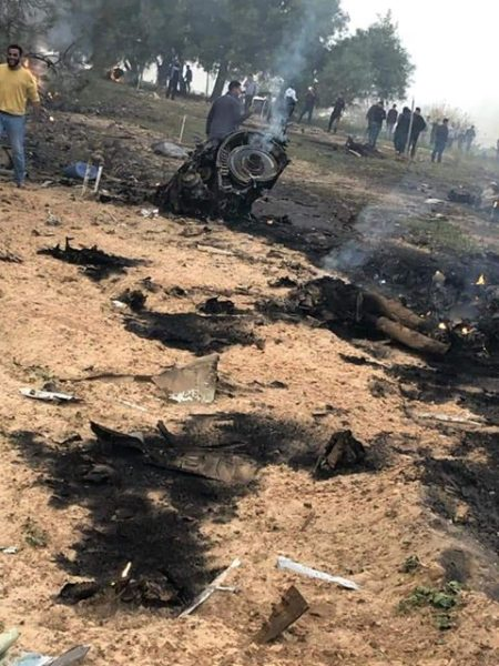 Обломки двигателя сбитого ливийского МиГ-23