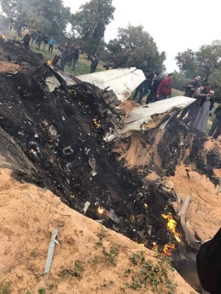 Ливийский МиГ-23 упавший в Завии