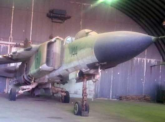 МиГ-23МЛ N6144 перед началом восстановительных работ