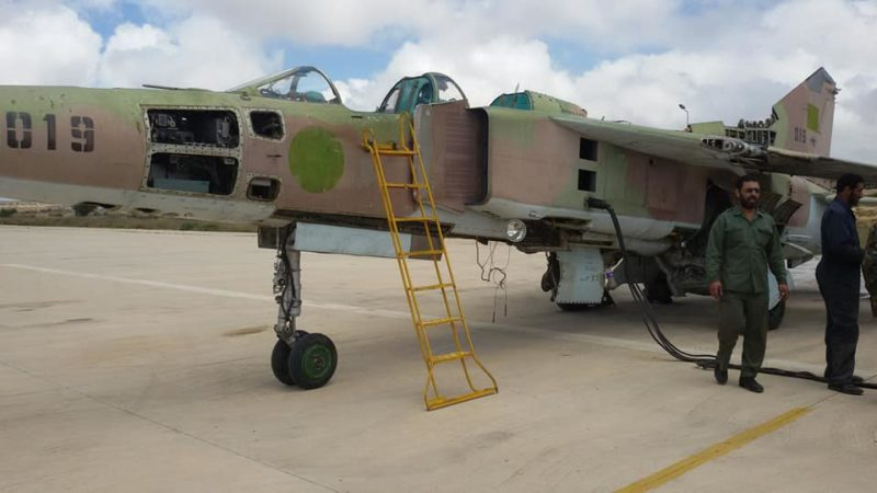 Полуразобранный МиГ-23УБ N019