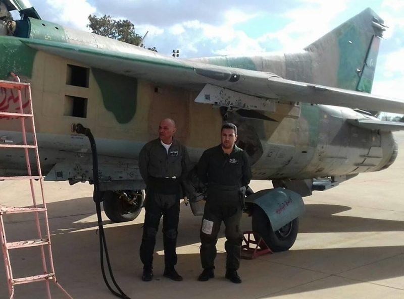 Ливийский МиГ-23УБ N8133 в обновленном виде