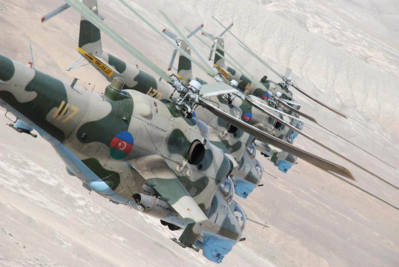 Азербайджанские Ми-24 N117, N173, N112