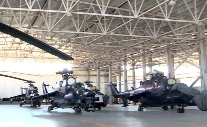 Азербайджанские Ми-24G в нелетном состоянии