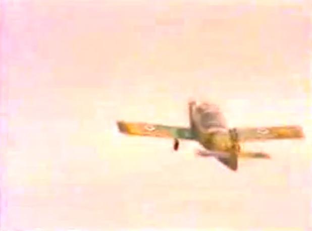 Скрин с видео взлетающего сирийского Flamingo